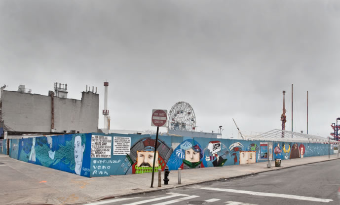 Coney Island Mural OverUnder Veng Ephameron Keith Schweitzer No Longer Empty
